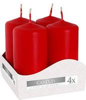 Свічка циліндр червона Bispol 8 см 4 шт (sw40/80-030)