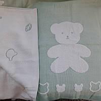 Натуральный хлопковый  плед Мишка  для новорожденных ., фото 1