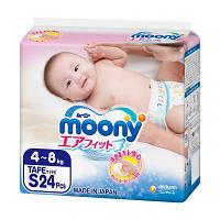Подгузник Moony S (4-8 кг) 24 шт (4903111277551)