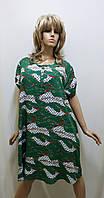 Платье штапельное с карманами 523