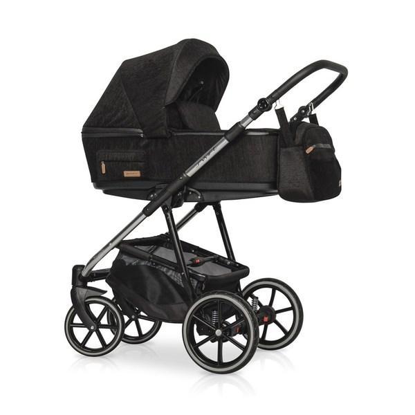 Дитяча коляска Riko Swift Premium 13 Carbon ( Чорна)