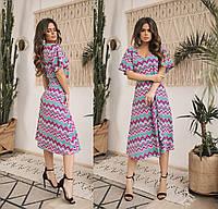 Женское летнее шифоновое платье.Размеры:42-46.+Цвета, фото 1