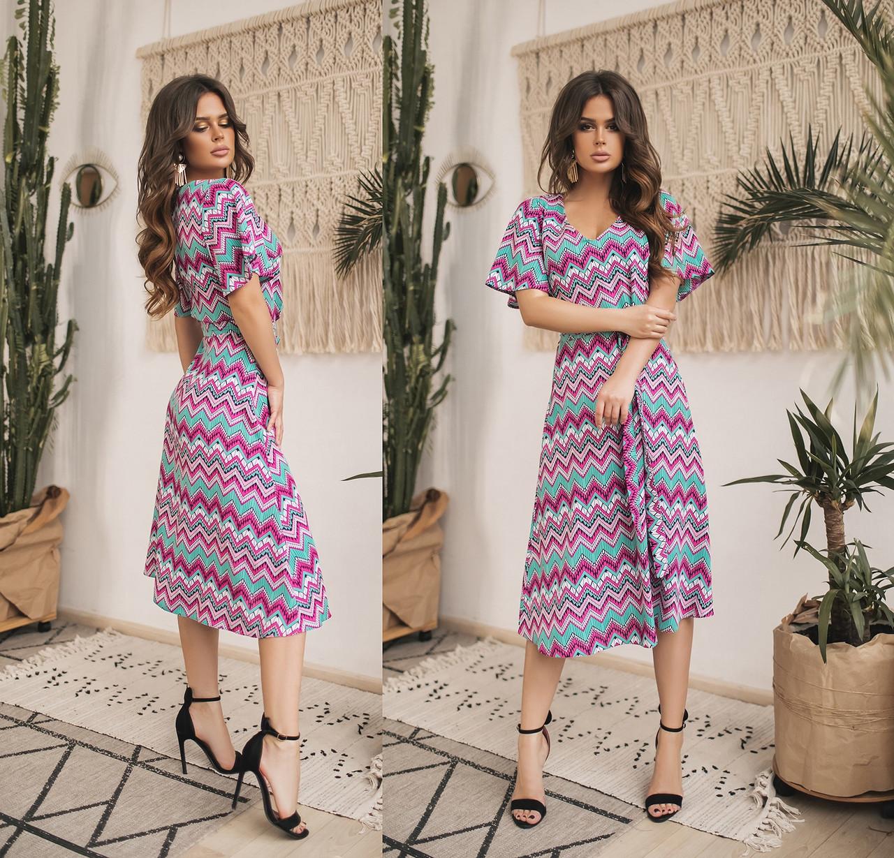 Женское летнее шифоновое платье.Размеры:42-46.+Цвета