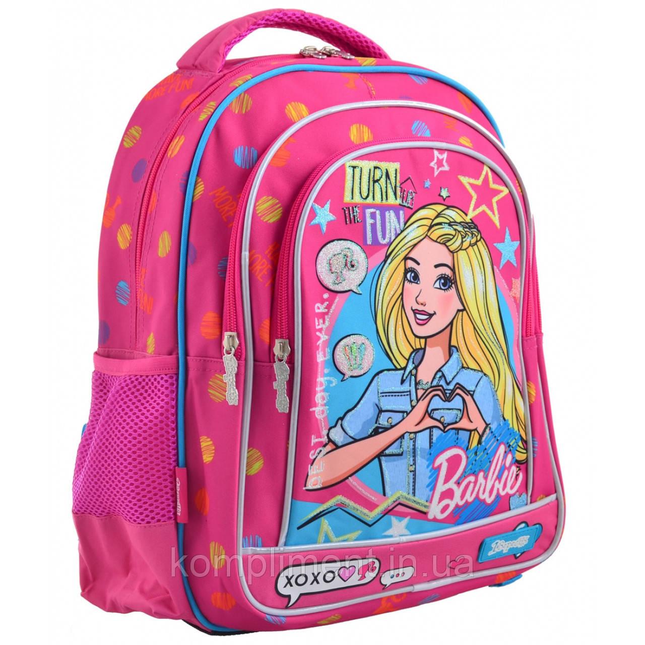 """Рюкзак школьный подростковый для девочки S-22 """"Barbie"""", 1 Вересня"""
