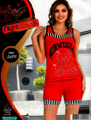 Домашний комплект майка и шорты Night Аngel Турция № 5499, фото 2