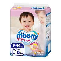 Подгузник Moony L (9-14 кг) 18 шт (4903111277704)