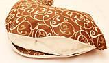 Подушка для вагітної Melody, М-300, Коричневий з візерунком, фото 3