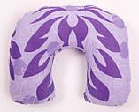 Дорожная подушка Travel Exlusive Фиолетовая с узором Хлопок, фото 2
