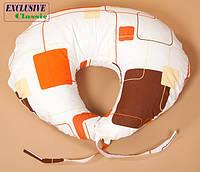Подушка для кормления, Exclusive Classic, Веселый квадрат, фото 1