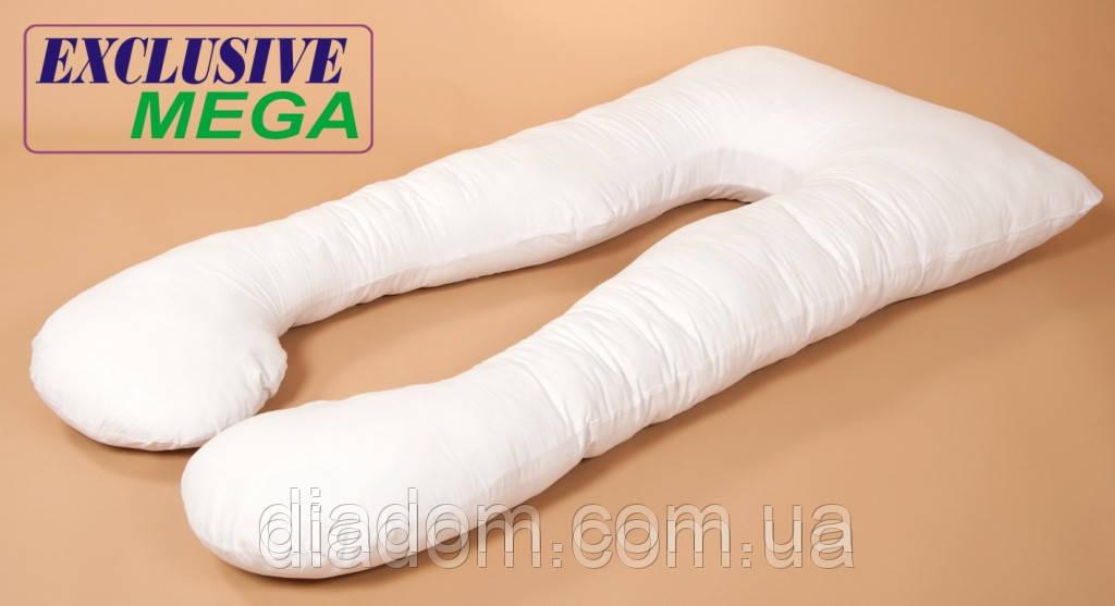 Подушка Для Беременных и Кормления Mega Exclusive, В комплекте: наволочка -  Белая