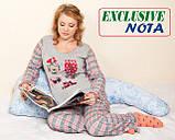 Подушка для Беременных Г-250, Nota, Фиолетово/ Голубая с узором, фото 3