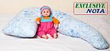 Подушка для Беременных Г-250, Nota, Фиолетово/ Голубая с узором, фото 5