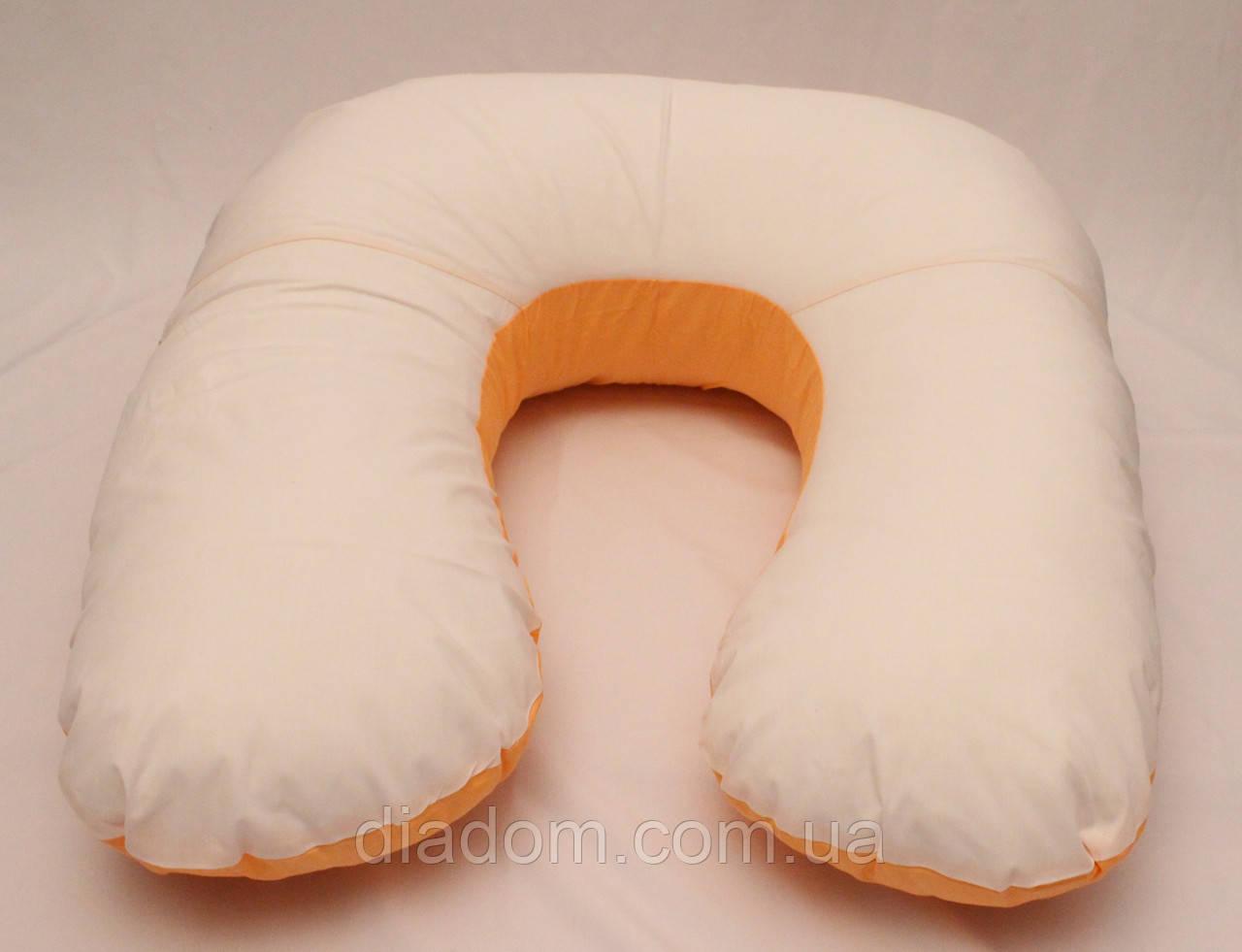 Подушка Для Беременных и Кормления Light Exclusive, В комплекте: наволочка - Бело-Оранжевая