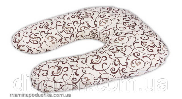 Подушка Для Беременных и Кормления Light Exclusive, В комплекте: наволочка - Бежевая с узором
