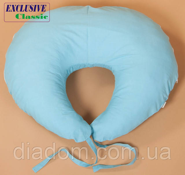 Подушка для кормления, Exclusive Classic, Голубая