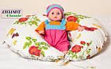 Подушка для кормления, Exclusive Classic, Голубая, фото 5
