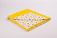 Плед детский плюшевый BabySoon 78х85см Солнышко с плюшем желтого цвета, фото 1