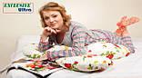 Подушка Для Беременных и Кормления Ultra Exclusive, В комплекте: наволочка - Сине-Абрикосовая, фото 4