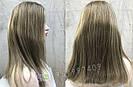 💥Женский русый парик на сетке из натуральных волос, удлинённое каре 💥, фото 3