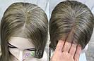 💥Женский русый парик на сетке из натуральных волос, удлинённое каре 💥, фото 5