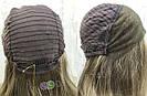 💥Женский русый парик на сетке из натуральных волос, удлинённое каре 💥, фото 6