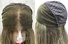 💥Женский русый парик на сетке из натуральных волос, удлинённое каре 💥, фото 7