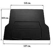 Коврик в багажник резиновый Stingray универсальный L (137см Х 109см)