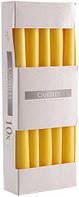 Свеча коническая желтая Bispol 24,5 см 10 шт (s30-010)