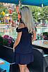 Короткий летний Сарафан темно-синий, фото 4