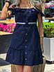 Короткий летний Сарафан темно-синий, фото 6