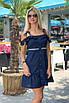 Короткий летний Сарафан темно-синий, фото 2