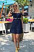 Короткий летний Сарафан темно-синий, фото 3