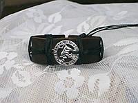 Кожаный браслет на руку знак зодиака ТЕЛЕЦ в подарок, ручная работа, ювелирная бижутерия