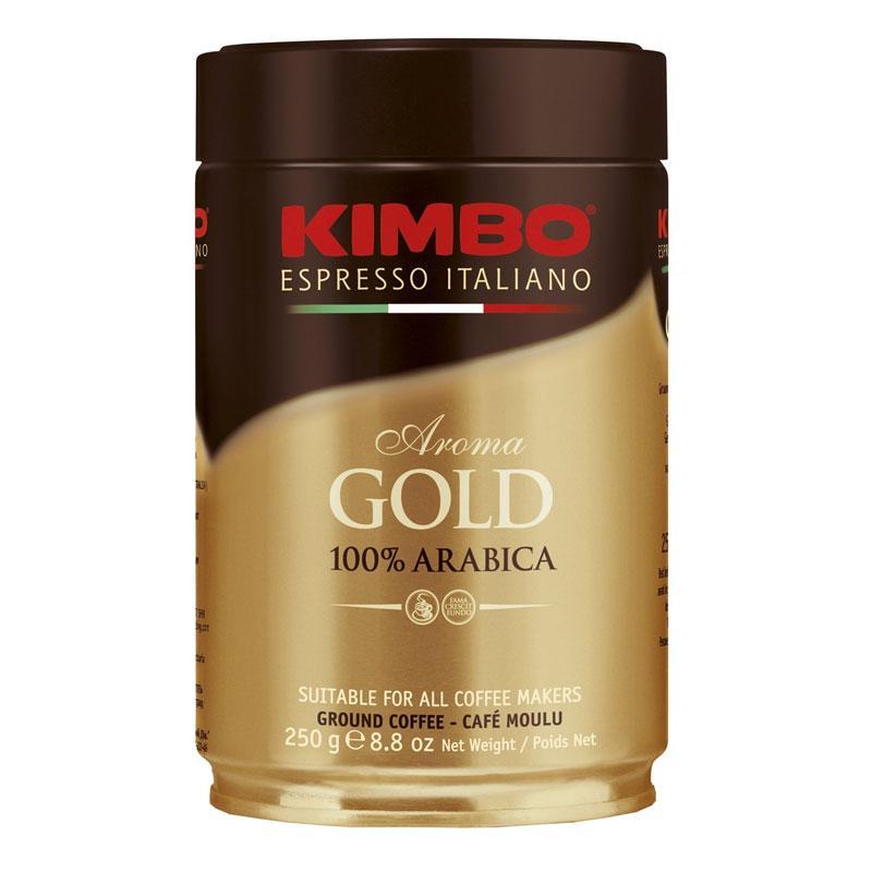 Кофе молотый в банке KIMBO AROMA GOLD 100% ARABICA, 250 грамм., Италия