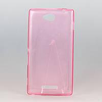 Чехол силиконовый ультратонкий 0,3мм для Sony C2305 розовый