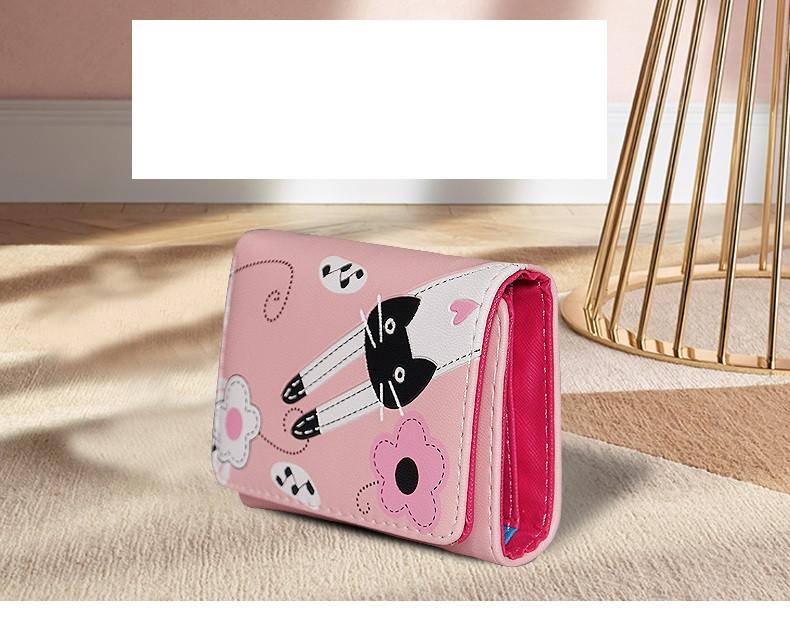 Кошелек розовый с котом