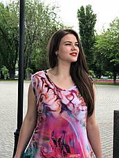 Летнее длинное платье а-силуэта 60-62 размера, фото 3