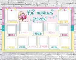 Плакат 12 місяців Зайка 75х120 см (укр)
