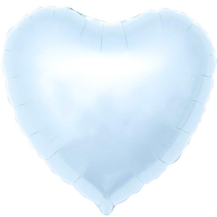 Agura Фольгированный Шар 19''/48 см, Сердце, Светло-голубой