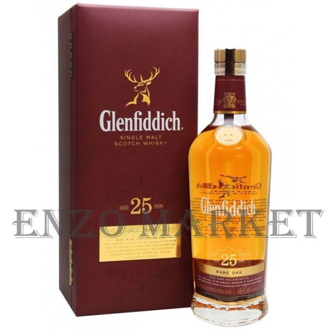 Виски Glenfiddich 25 Years Old Rare Oak (Гленфиддик 25 лет) 40% 0,7 литра
