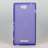 Чехол из высококачественного силикона для Sony C2305 фиолетовый