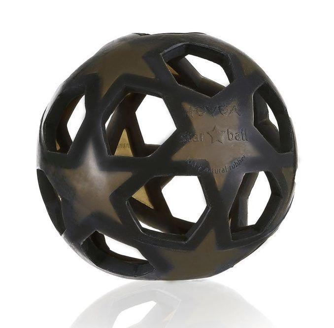 HEVEA - Игрушка-прорезыватель Star Ball Black