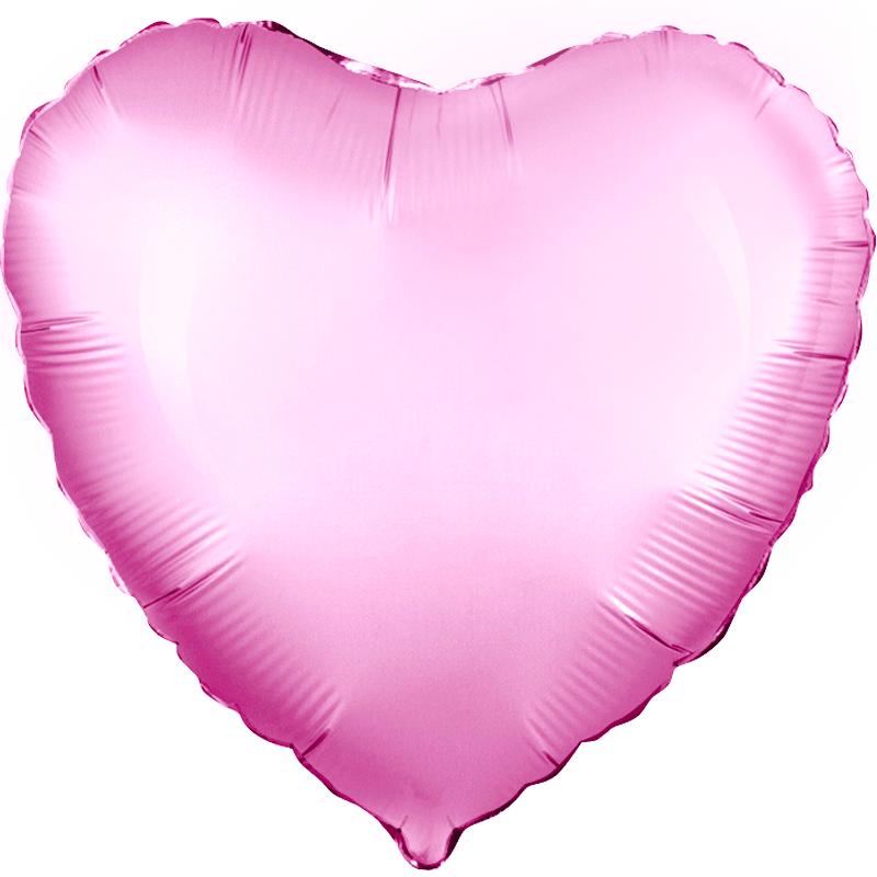 Agura Фольгированный Шар 19''/48 см, Сердце, Розовый