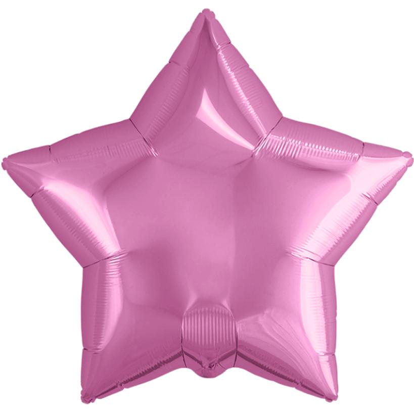 Agura Фольгированный Шар 21''/53 см, Звезда, Розовый