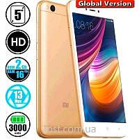 Смартфон Xiaomi Redmi 5A 2/16Gb MIUI 10 Gold 4G (Global) Защитное стекло в подарок