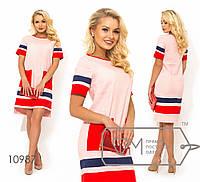 Прямое платье из льна, розовый