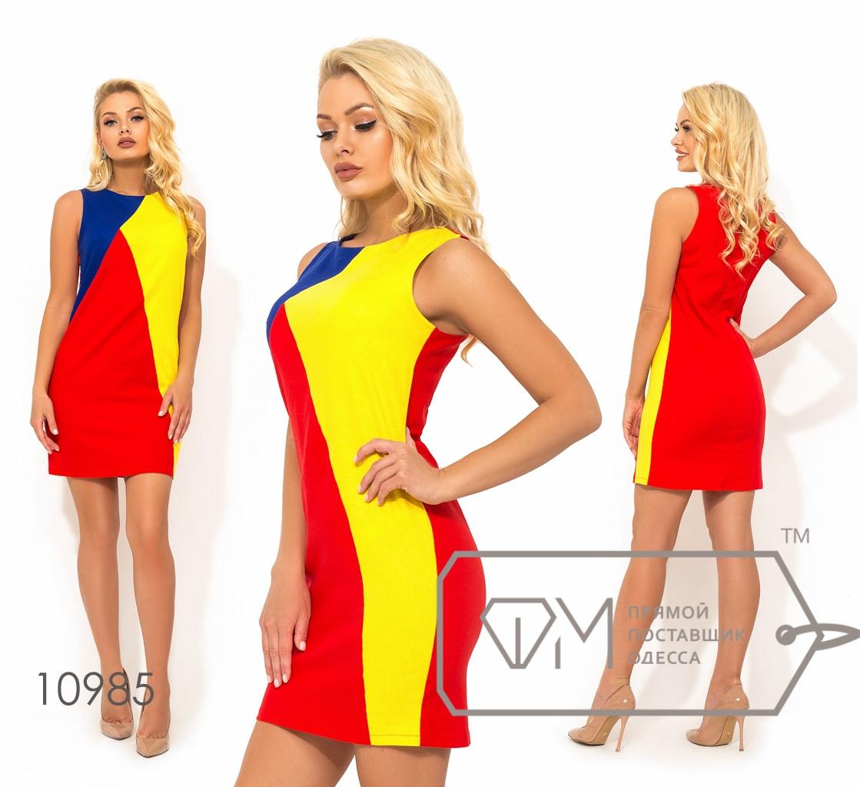 Короткое платье из льна, красный