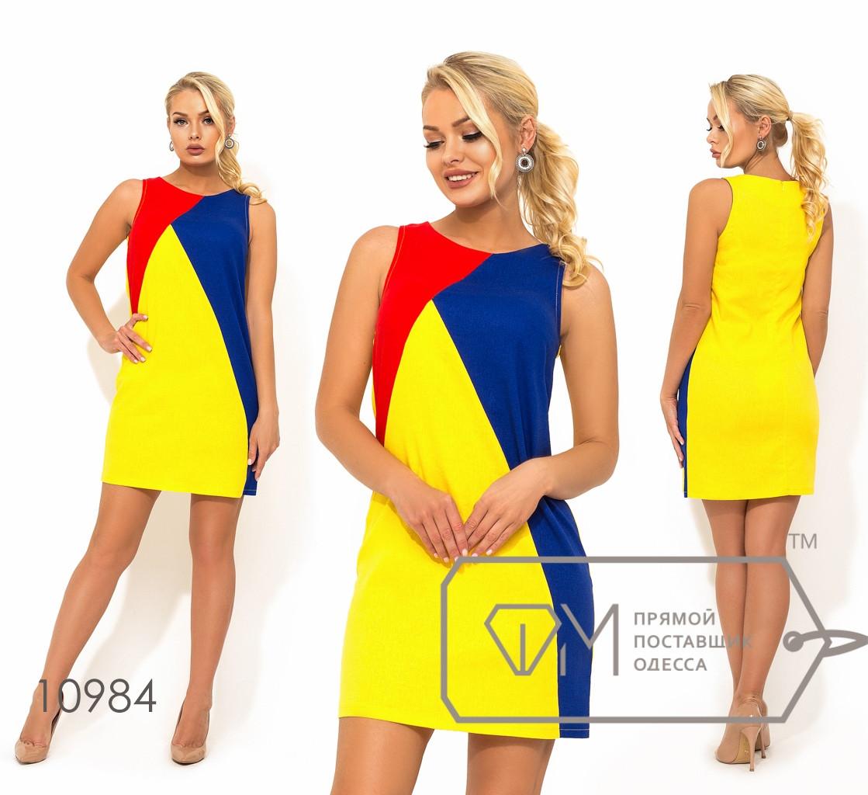 Короткое платье из льна, желтый