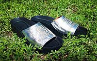 Кожаные шлепанцы серебристого цвета, фото 1