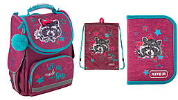Школьный набор 3в1 Kite Education Fluffy racoon K19-501S-3